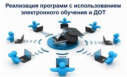 Реализация программ с использованием электронного обучения и ДОТ