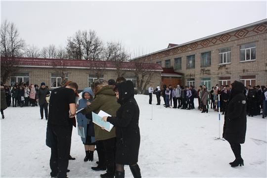Тренировочная эвакуация в  Чебоксарском профессиональном колледже