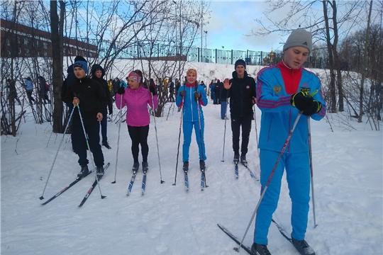 В рамках месячника оборонно-массовой и спортивной работы состоялись соревнования по лыжным гонкам