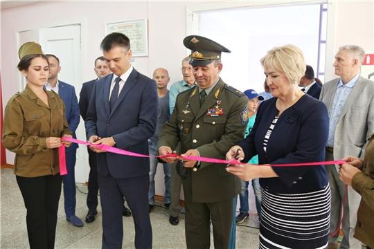 В чебоксарской школе №22 открылся Зал боевой славы