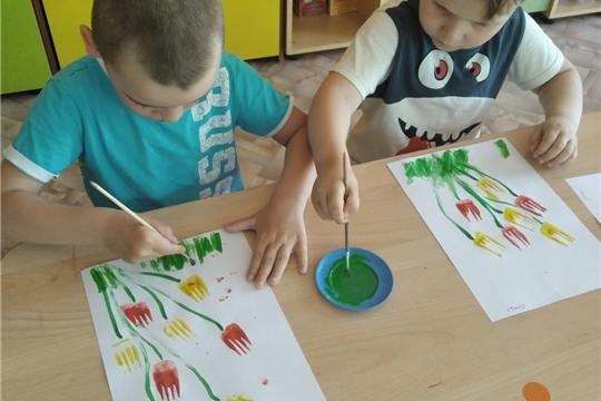 Рисуем любимые цветы