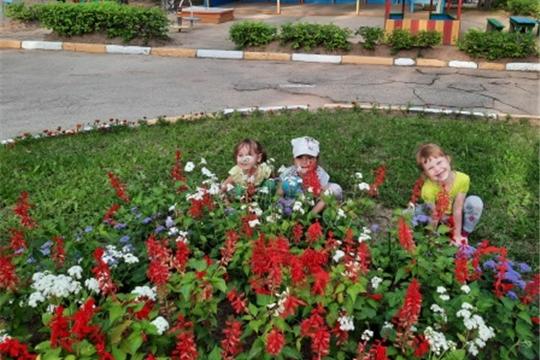 В саду цветы мы посадили, чтоб было больше красоты!