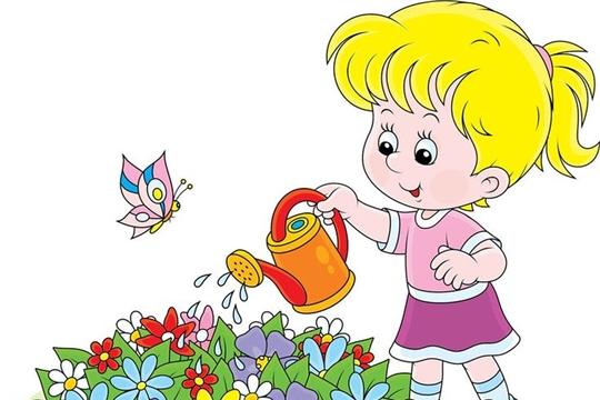 Детям нравятся цветы!