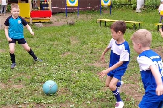 Первенство по мини-футболу в детском саду.