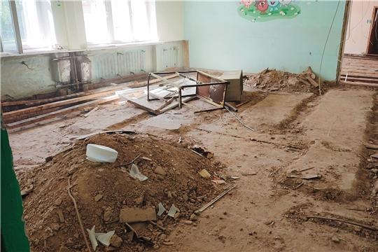 Капитальный ремонт в детском саду.