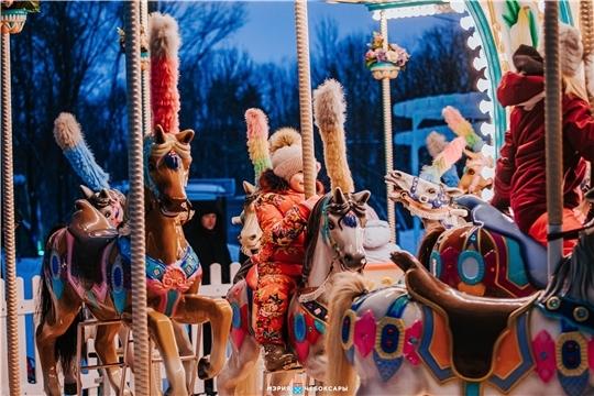 Более 230 000 человек посетили новогодние площадки в Чебоксарах