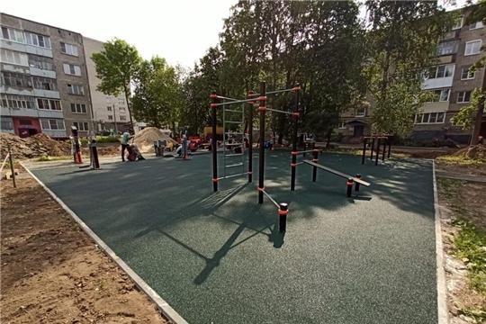Продолжается благоустройство на 22 придомовых территориях города Чебоксары