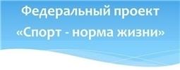 Федеральный проект «Спорт – норма жизни»