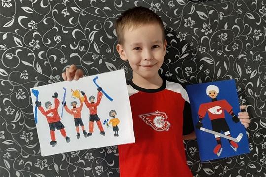 Конкурс рисунков о хоккее
