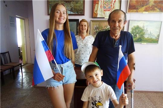 В Бичуринской сельской библиотеке прошел патриотический час «Путешествие в историю Государственного флага»