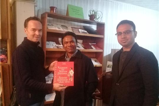 Творческая встреча между участниками НФК «Кунер» и артистами театра государства БангладешTableaupuppetFounderSHIHABAHMETи SaialDas