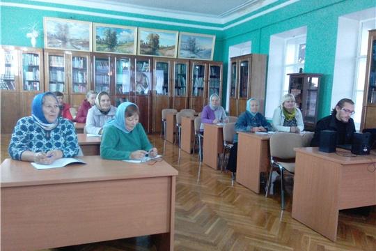 В центральной районной библиотеке прошло занятие воскресной школы