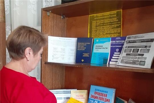 Информполка «Обязательное пенсионное страхование и добровольное пенсионное обеспечение» функционирует в Астакасинской сельской библиотеке