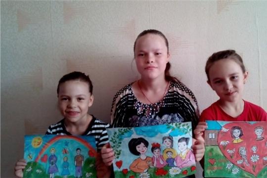 Конкурс рисунков «Я и моя семья» в селе Бичурино
