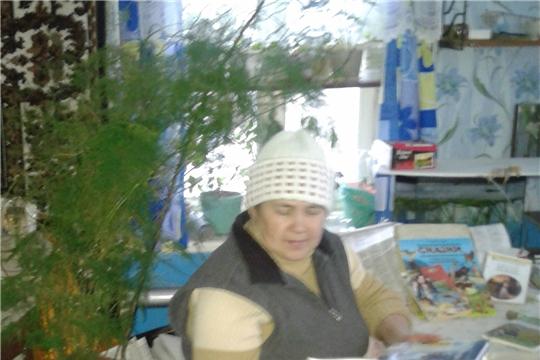 Посещение на дому «Пусть герои книжек дарят вам тепло» организовала Сутчевская сельская библиотека