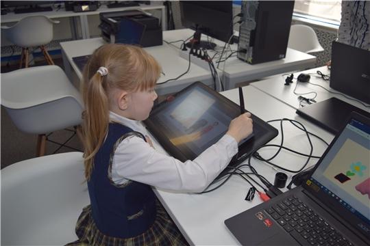 В МедиаLAB лаборатории прошли очередные занятия с группой младшего возраста, темой занятия стала программа Paint 3D