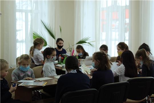 Весенний мастер-класс в детской библиотеке