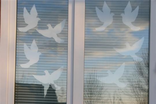 Карабашская сельская библиотека присоединилась к Всероссийской акции «Окна Победы»
