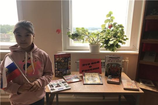 В Приволжской городской библиотеки функционирует книжная выставка «Это все о России»