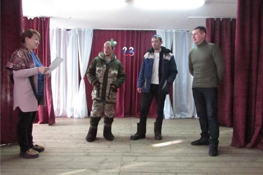 21 февраля в Первочурашевском ЦСДК состоялась   конкурсно - игровая  программа «Смелые, ловкие, сильные и умелые»