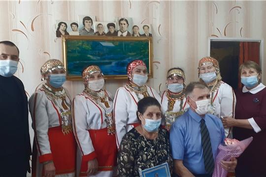 Тинсаринский сельский клуб преподнес музыкальное поздравление на золотую свадьбу!