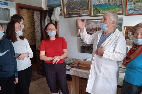 Участники клуба «Объектив и палитра» посетили творческую мастерскую художника Медведева Вениамина Варсанофьевича