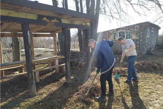 20 апреля работниками Новинского ГДК и волонтерами были убраны территории, прилегающие к клубу