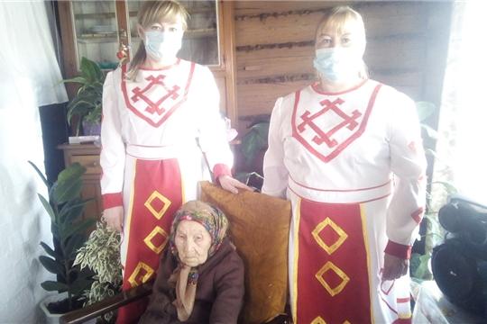 19 апреля поздравление с 90-летием принимала труженица тыла, жительница д.Шанары, Орлова Мария Филипповна