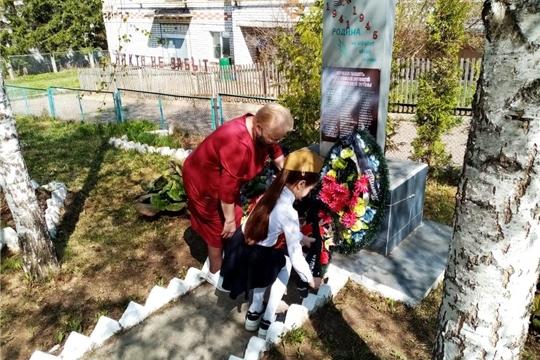В микрорайоне Спиртзавода города Мариинский Посад стало доброй традицией 8 мая проводить Митинг у памятника погибшим в Великой отечественной войне