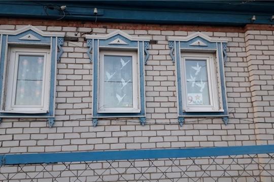 Сотниковский сельский Дом  и его активные пользователи присоединились к акции «Окна Победы».