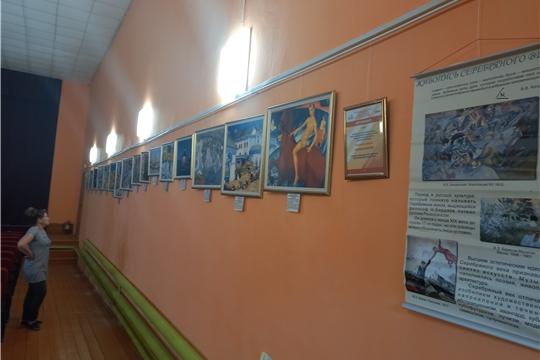 23 мая в рамках федерального проекта « Местный дом культуры» Октябрьский дом культуры принял участие в проекте « Караван искусств», благодаря чему в зрительном зале открылась выставка художников «Серебряного века»
