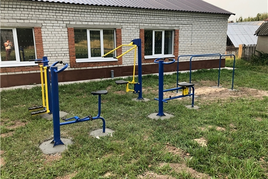 Спортивная площадка на территории  Большекамаевского сельского клуба