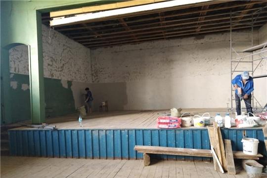 В Питеркинском СДК продолжаются ремонтные работы