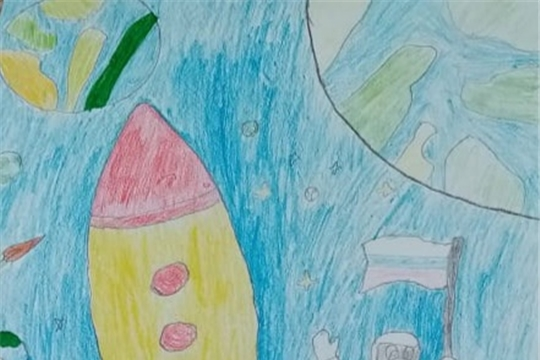 Читатели отдела по работе приняли участие в конкурсе рисунков «Мы рисуем Космос»