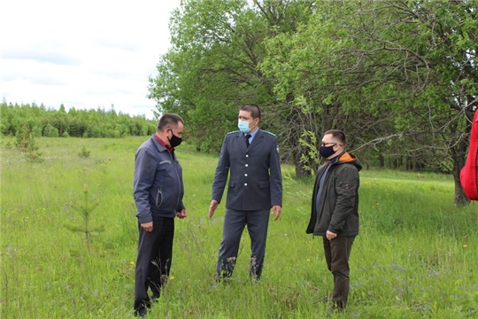 Съемка видеосюжета для ГТРК «Чувашия» о нарушениях земельного законодательства