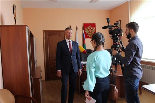 Съемочная группа Национальной телерадиокомпании готовит видеосюжет о результатах работы Управления Россельхознадзора по мониторингу пищевой продукции на территории Чувашской Республики